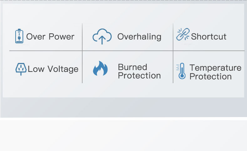 ym-heat not burn over power overhaling shortcut Low voltage Burned Protection Temperature Protection