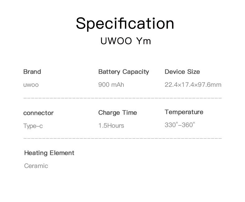 ym-heat not burn_10 Specification