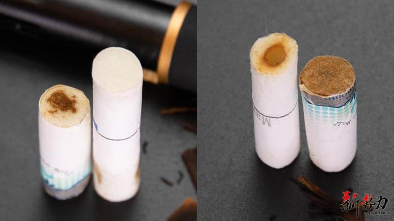 cigarette butt comparison picture