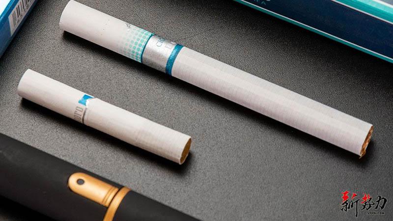 tobacco sticks and cigarette length comparison