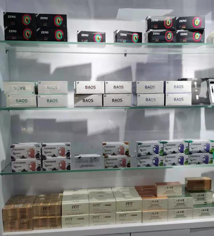 wall of different brands of heat-not-burn heatsticks