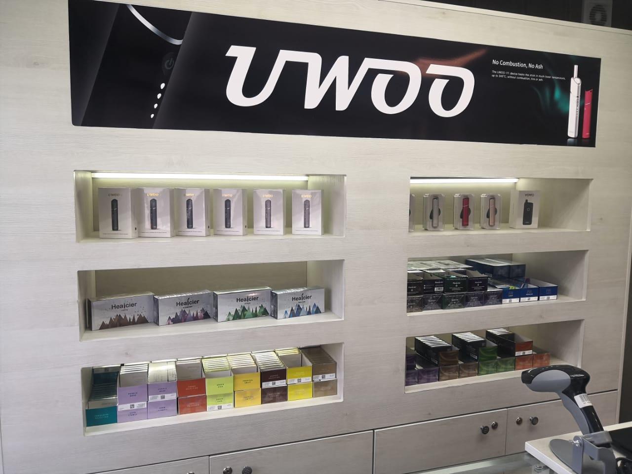 A corner of Uwoo® heat-not-burn shop
