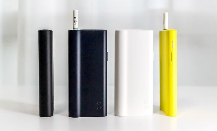 BAT Glo pro Slim (1,980 yen each). There are four body colors available from the left in the photo: black, navy, white, and yellow.